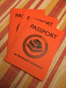 cover of the 2019 Vermont Passport a nice orange passport